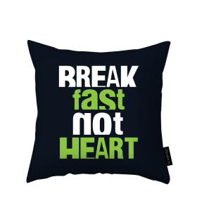 break fast printed pillow