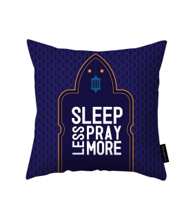 pray more printed pillow