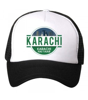 karachi lights art printed cap