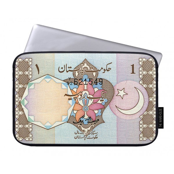 One Rupee Pakistan Art Printed Laptop Sleeves