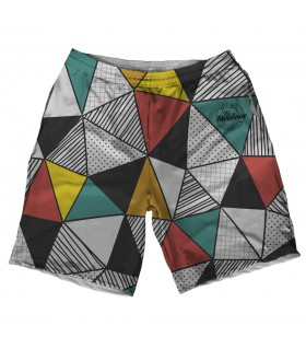 Triangles printed shorts