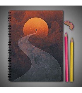 sun door art printed notebook