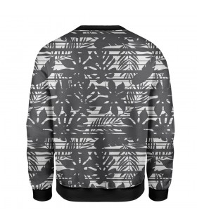 Black flowers printed sweatshirt