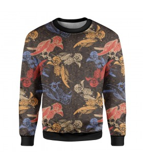 birds printed sweatshirt