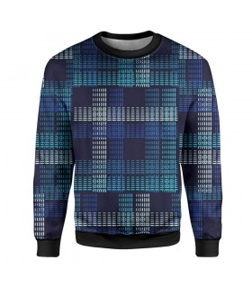blue abstract printed sweatshirt