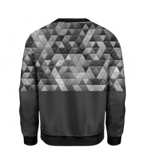 grey abstract printed sweatshirt