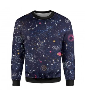 space printed sweatshirt