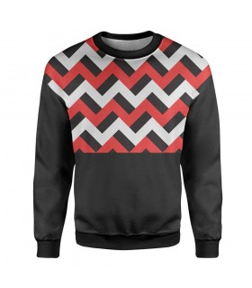 zigzags printed sweatshirt