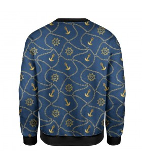anchor chain printed sweatshirt