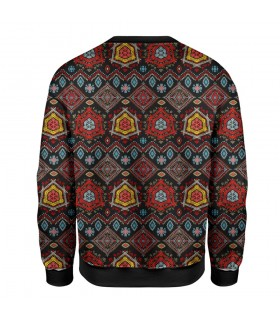 embroidery art printed sweatshirt