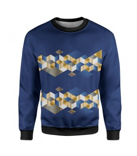 abstract art printed sweatshirt