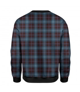 checkered printed sweatshirt