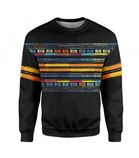 ethnic art printed sweatshirt