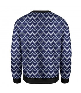 zigzag art printed sweatshirt