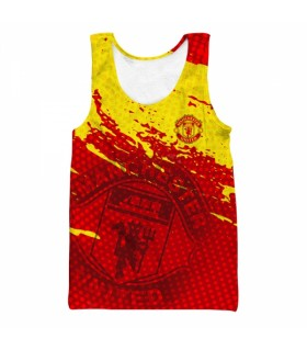 manchester united all over printed tank top