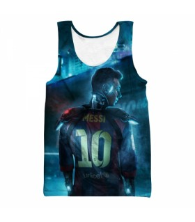 messi all over printed tank top