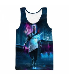 ronaldo all over printed tank top