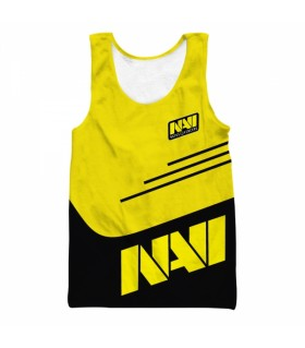 navi all over printed tank top
