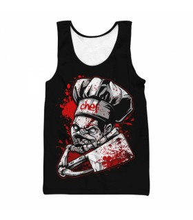 Chef Pudge all over printed tank top