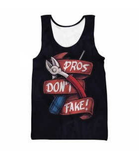 Pros Dont Fake all over printed tank top
