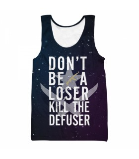 kill the defuser all over printed tank top