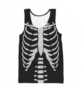 skeleton all over printed tank top