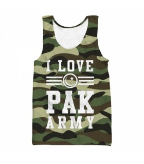 i love pak army all over printed tank top