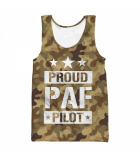 proud paf pilot all over printed tank top