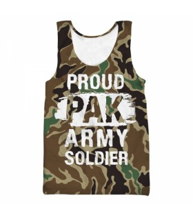 proud pak army all over printed tank top