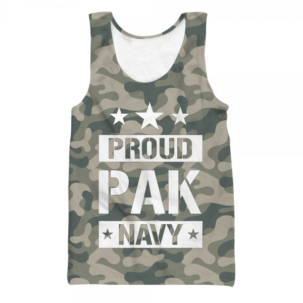 Proud Pak Navy All Over Printed Tank Top