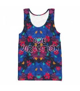 one direction all over printed tank top