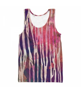 zebra lines all over printed tank top