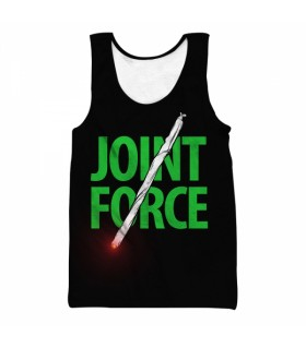 joint force all over printed tank top