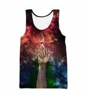 just smoke weed all over printed tank top