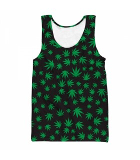 weeds all over printed tank top