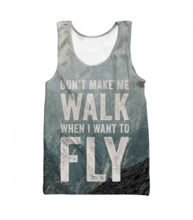 fly all over printed tank top
