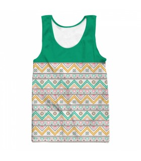 Hand drawn ethnic all over printed tank top