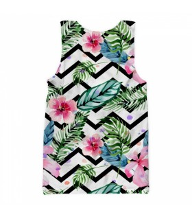 watercolor flowers all over printed tank top