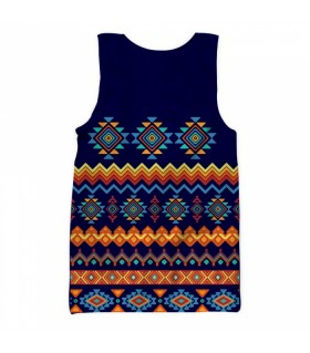 Abstract shapes all over printed tank top