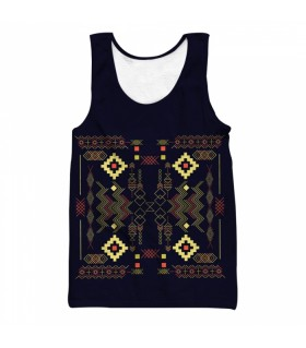 Aztec all over printed tank top
