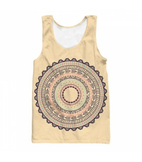Decorative boho all over printed tank top