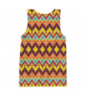 Zig zag ethnic all over printed tank top