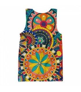 boho all over printed tank top