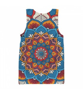 doodle mandala all over printed tank top