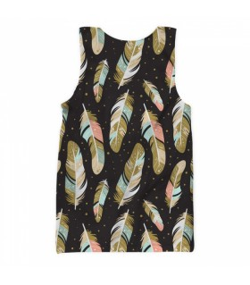 feathers all over printed tank top