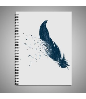 Birds Of A Feather art printed notebook
