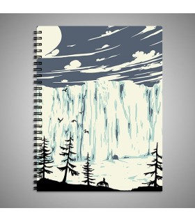 snow mountain art printed notebook