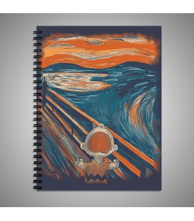 watercolor painting art printed notebook
