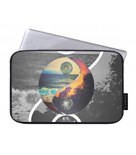 yin yang we heart art printed laptop sleeves