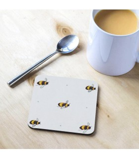 Bee Printed Tea Coaster